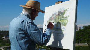 alter Mann malt