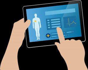 Tablet Gesundsheitdaten